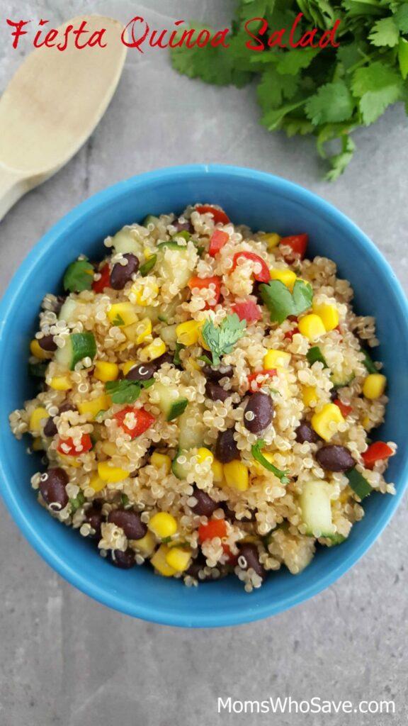 Fiesta Quinoa Salad Recipe (Vegan and Gluten-Free) - Moms Who Save