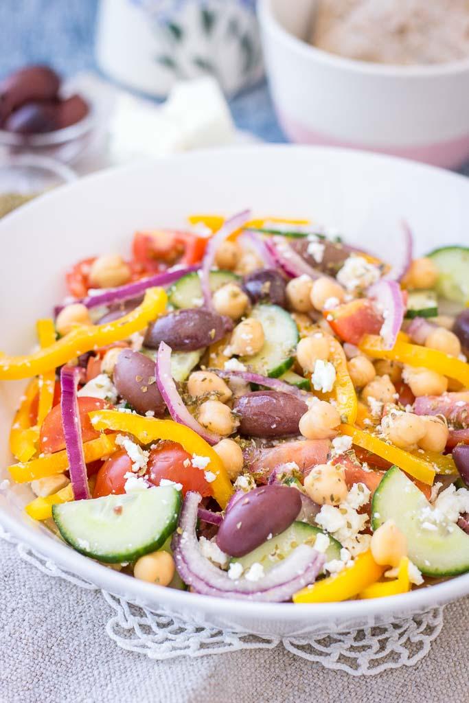 Greek Chickpea Salad - Natalie's Health
