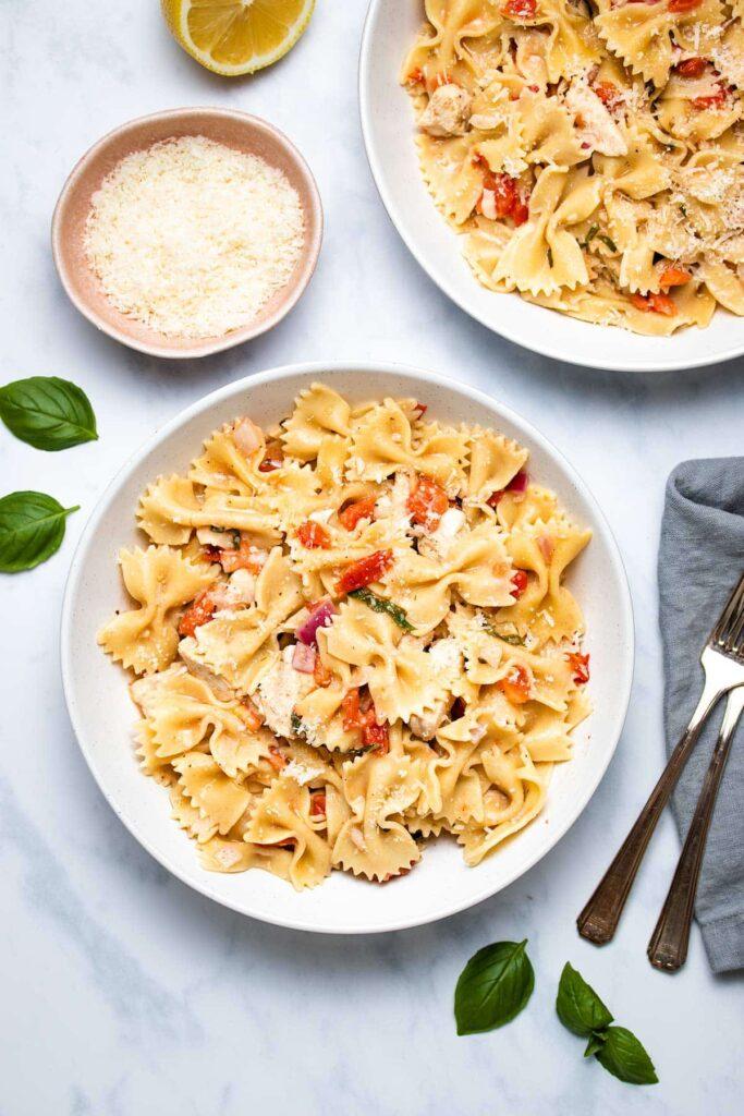 Instant Pot Bruschetta Chicken Pasta - The Recipe Well