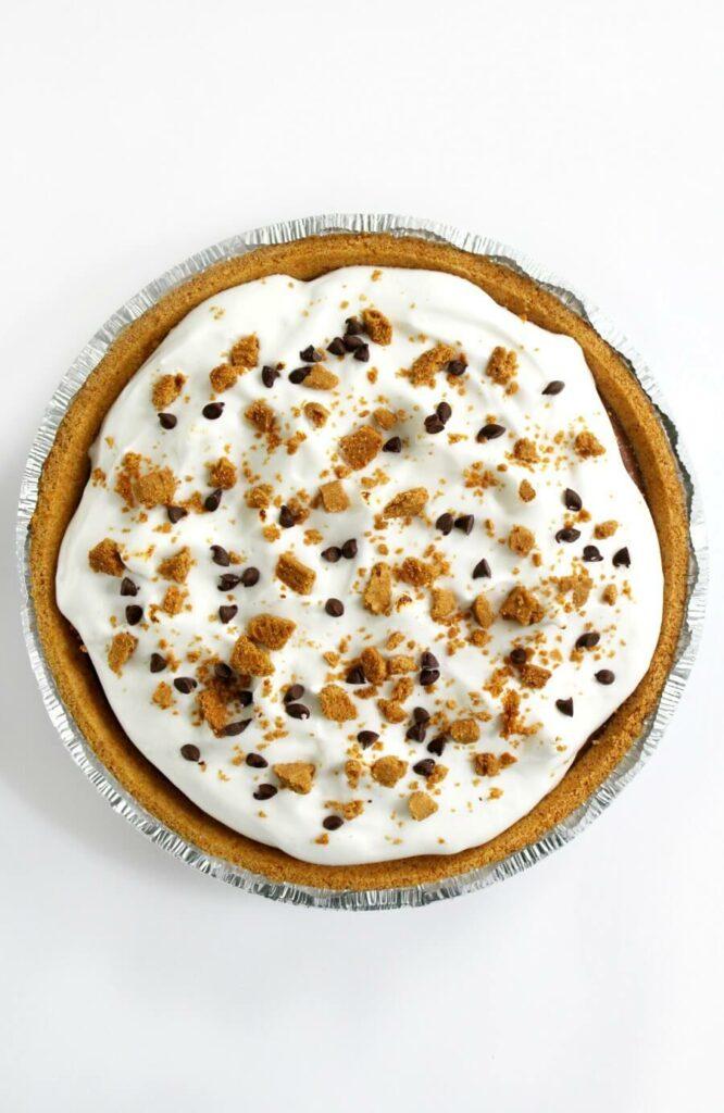 No-Bake Vegan S'mores Pie (Gluten-Free, Allergy-Free) - Strength and Sunshine