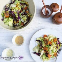 Summer Quinoa Salad with Sweet Potatoes and Seared Corn by Champagne and Sugarplums