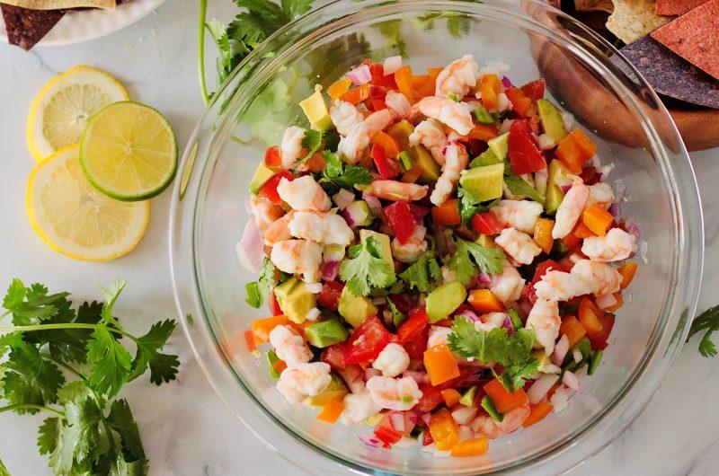 Light and Refreshing Avocado Shrimp Ceviche Recipe - The Mini Chef