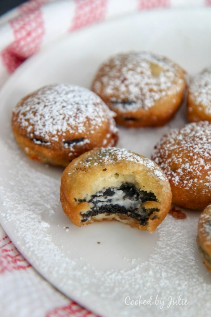 Deep Fried Oreos - Cooked by Julie