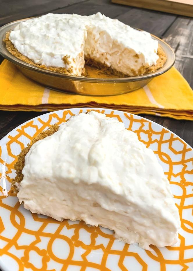No-Bake Pineapple Pie Recipe - The Endless Appetite