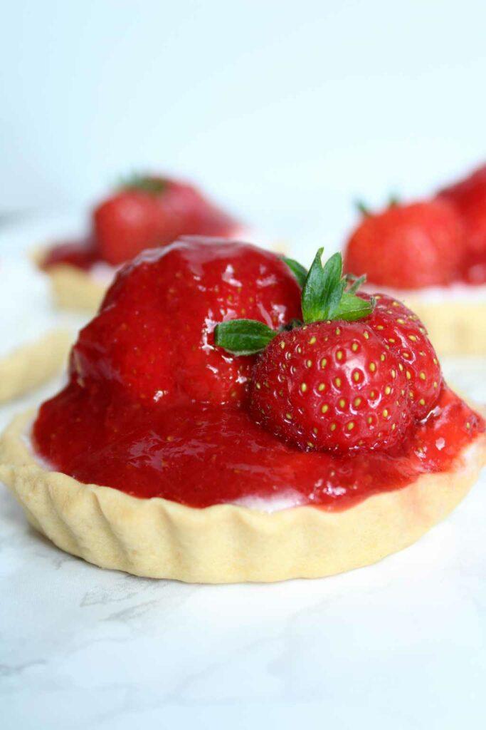 Mini Strawberry Tarts - Baked by Clo