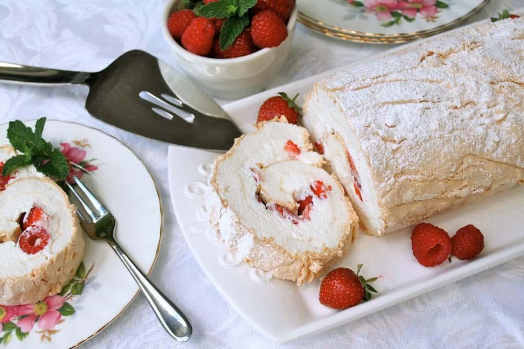 Summer Berry Meringue Roulade - Christina's Cucina