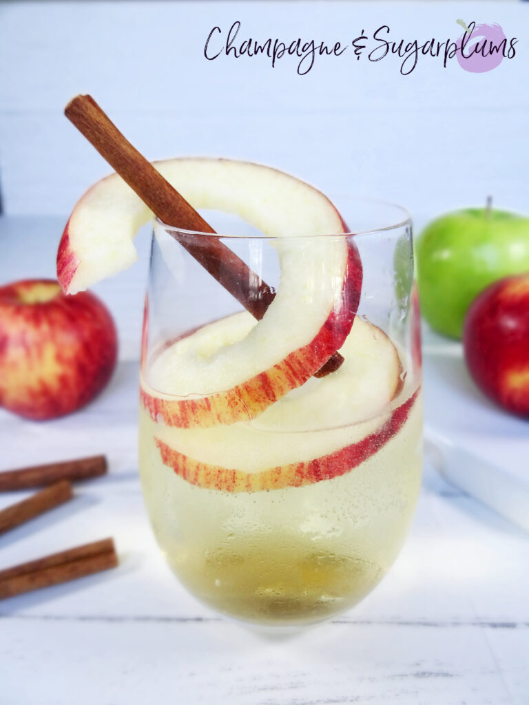 Maple apple cocktail on a white background by Champagne and Sugarplums