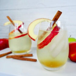 Bubbly Cinnamon Apple Cocktail Recipe by Champagne and Sugarplums