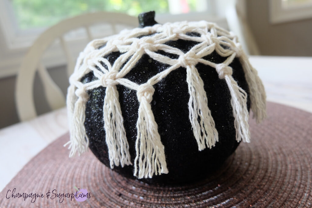 How to Make a Macrame Pumpkin Cover - Macrame Beginner Knot by Champagne and Sugarplums