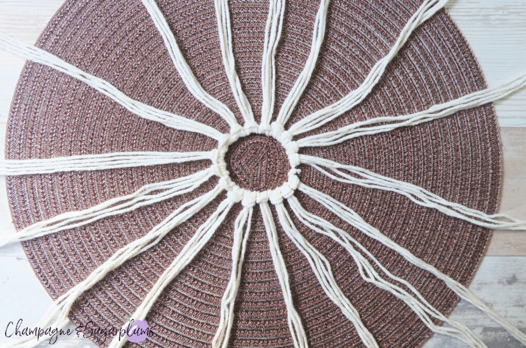 How to Make a Macrame Pumpkin Cover by Champagne and Sugarplums