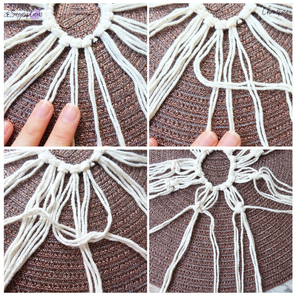 easy macrame knot Macrame Beginner Knot by Champagne and Sugarplums