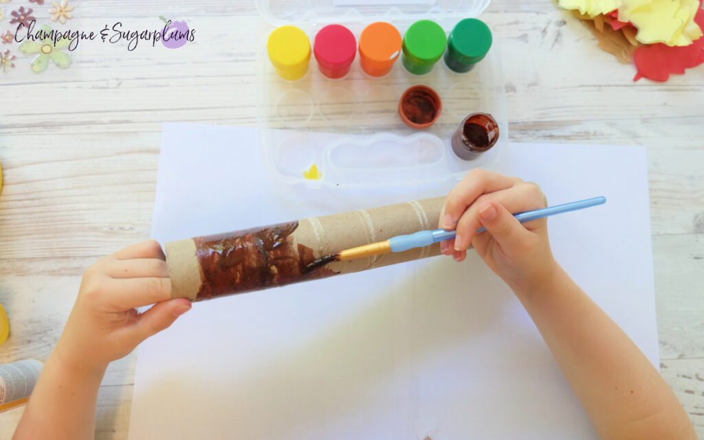 Painting the tree trunk by Champagne and Sugarplums