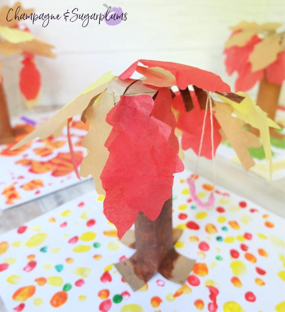 Paper Bag Tree Kids Craft for Thanksgiving