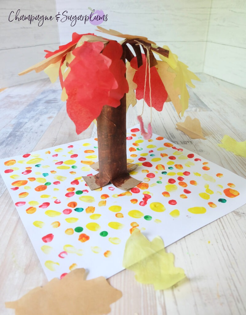 Pretty Paper Bag Tree Kids Craft by Champagne and Sugarplums