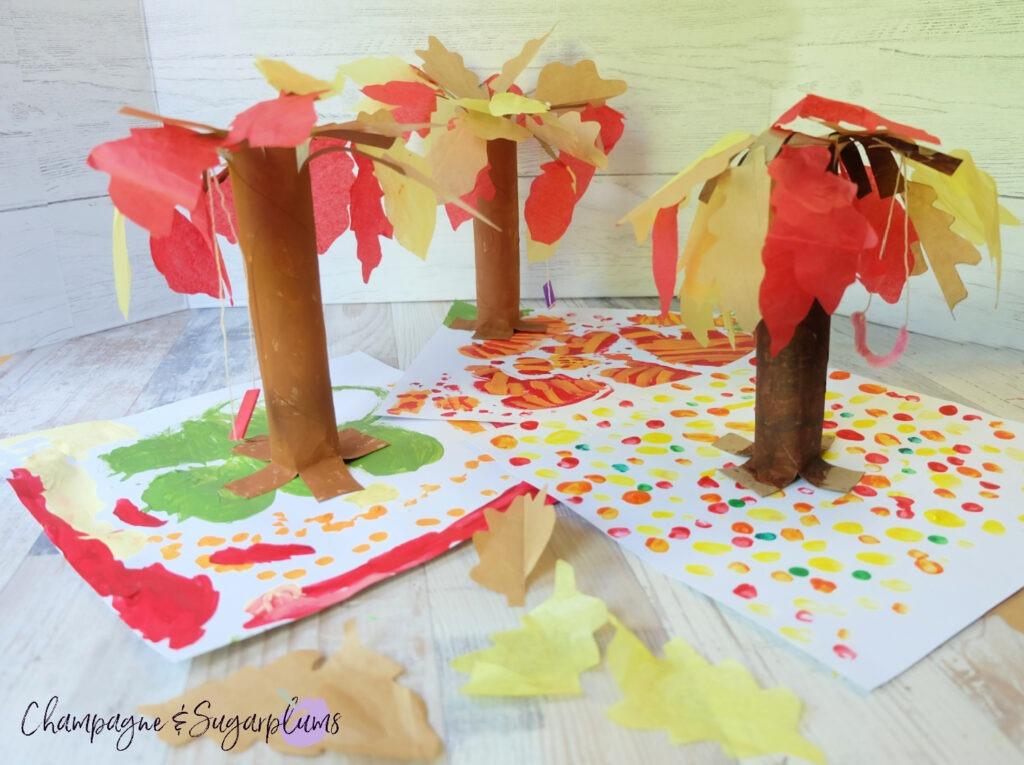 Paper Bag Forest Kids Craft for Thanksgiving