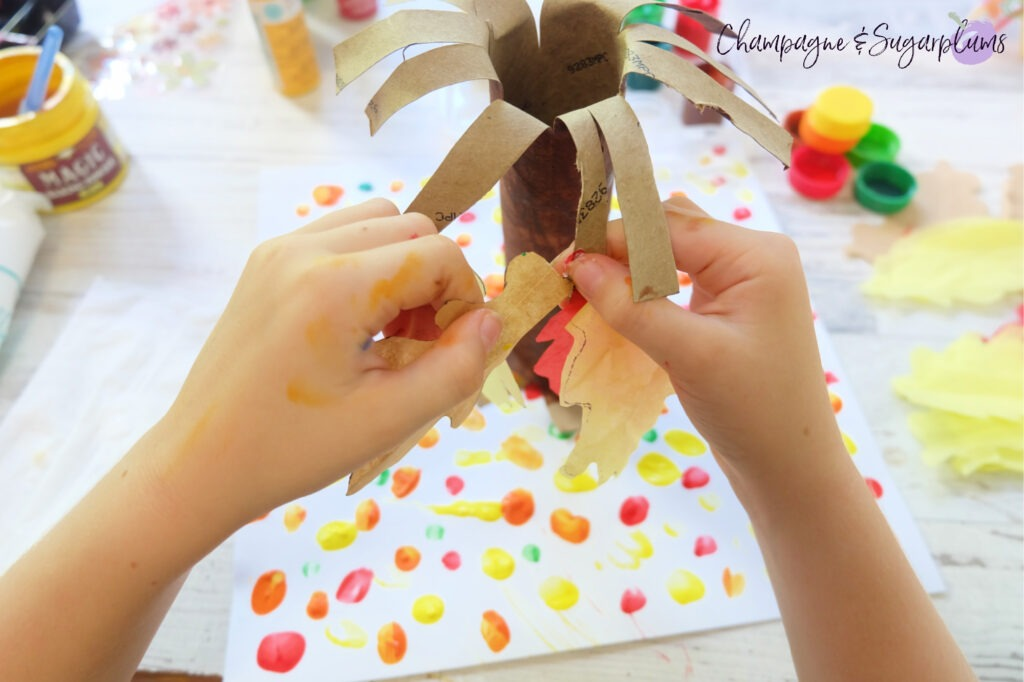Adding leaves by Champagne and Sugarplums