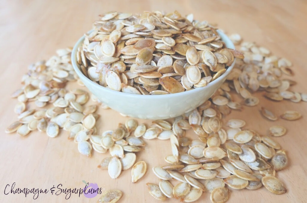 Yummy Roasted Pumpkin Seeds by Champagne and Sugarplums