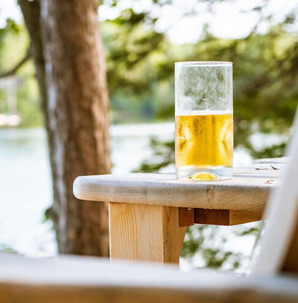 Refreshing beer at the cottage