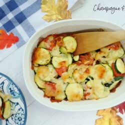 Easy Zucchini Tomato Bake with Parmesan