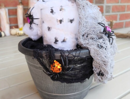Halloween Spider Planter by Champagne and Sugarplums
