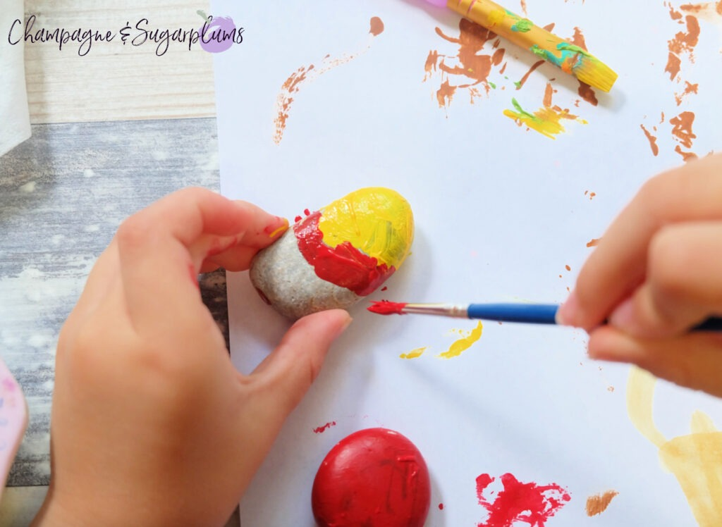 Painting Rocks by Champagne and Sugarplums