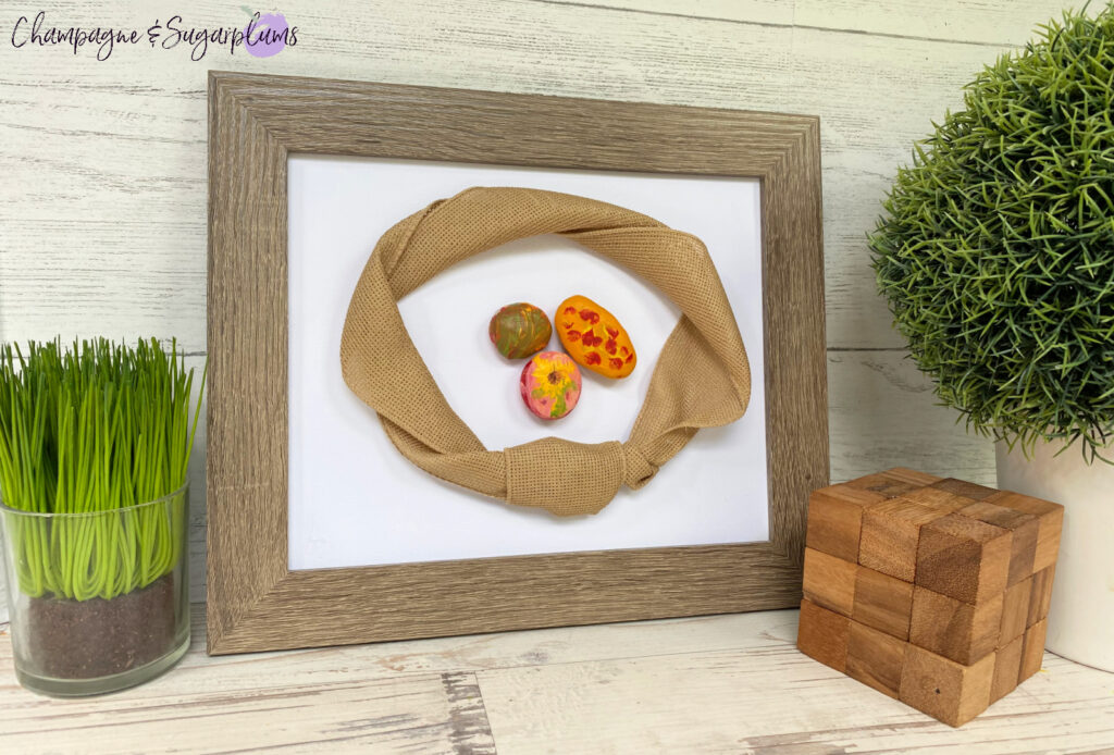 Kids Rock Painting Fall Frame by Champagne and Sugarplums