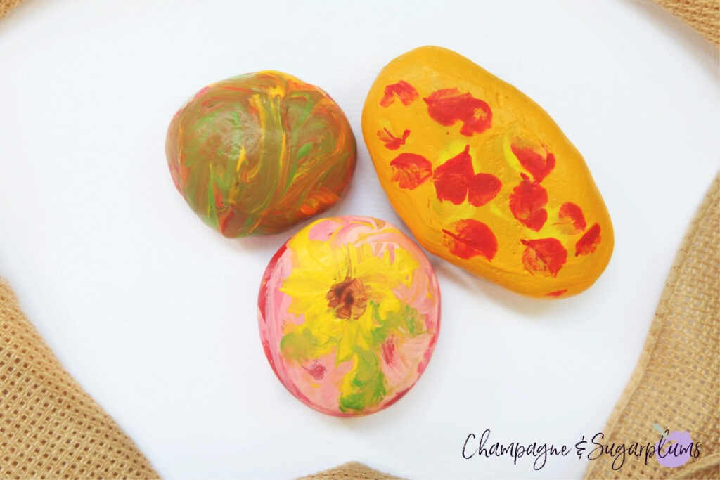 Beautiful Painted Rocks Kids Craft by Champagne and Sugarplums