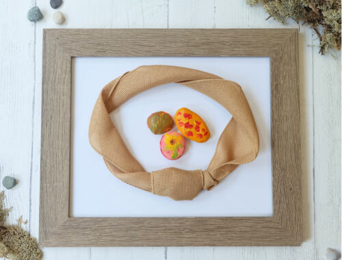 Kids Rock Painting Fall Frame