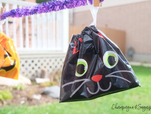 Halloween Treat Bag Banner by Champagne and Sugarplums