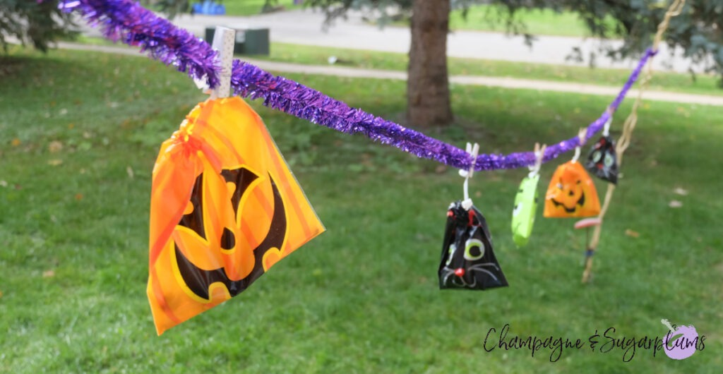 Social Distancing Halloween Idea by Champagne and Sugarplums