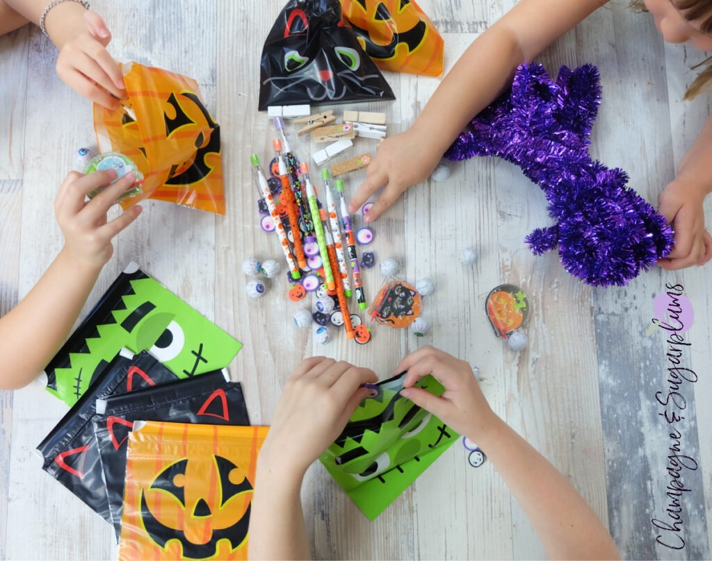 Treat Bag Banner for Halloween by Champagne and Sugarplums