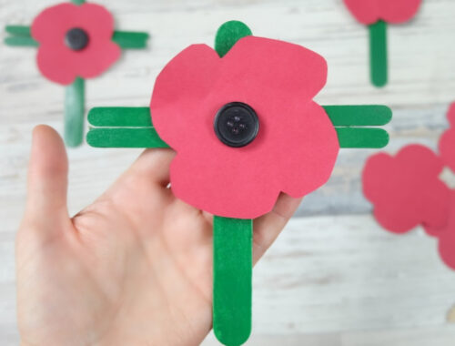 Popsicle Stick Poppies Easy Kids Craft by Champagne and Sugarplums