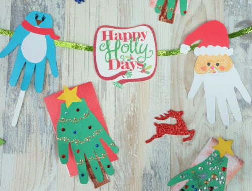 Christmas Handprint Kids Craft Idea