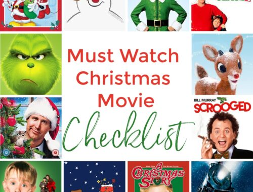 Must Watch Christmas Movie Checklist by Champagne and Sugarplums