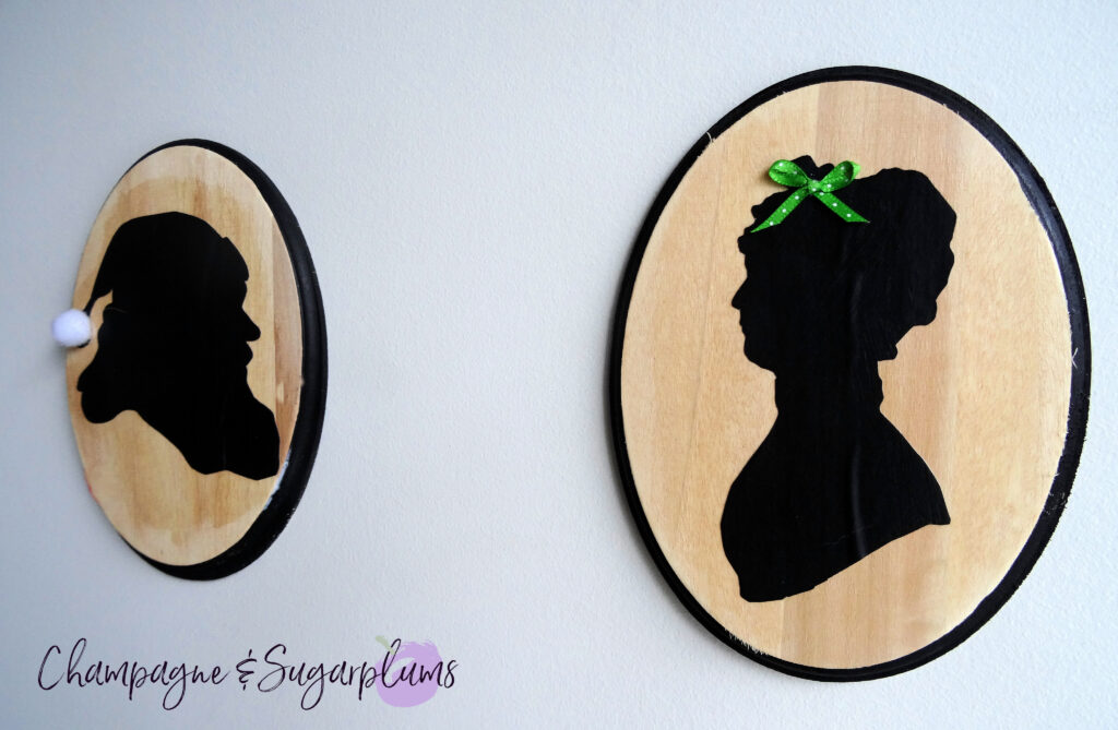 Silhouette Santa Craft on a white background by Champagne and Sugarplums